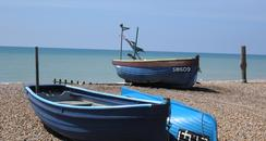 Boats on East Preston beach