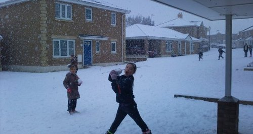 kids in snow