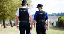 Police Officer and PCSO walking