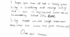 Kristian's letter