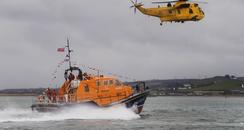 Appledore lifeboat with search and rescue