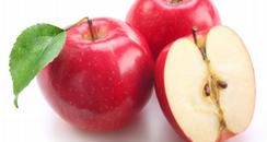 Red Apples cut in half