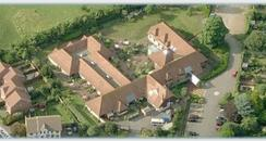 Aerial view of the Martlets Hospice.