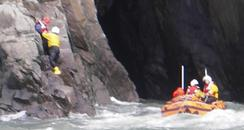 Lynmouth cliff rescue