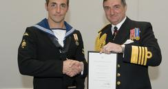 Navy Diver Receives Bravery Award