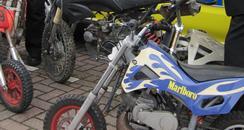 Mini Motorbikes seized in Crawley