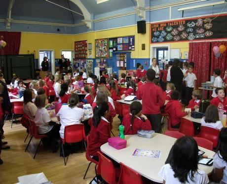 New school dinners at Park Junior in Wellingboroug