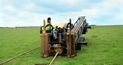 Drilling at Cuckmere Haven