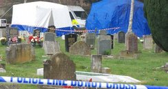 Police at Bybrook Cemetary