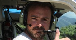 Jamie Theakston in Rio. Helicopter Ride