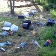 Fly tipping at school
