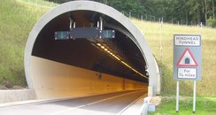 The 1.2 mile-long tunnel on the A3