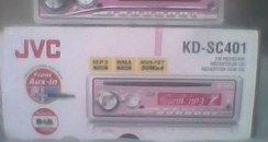 Pink CD car radio player