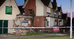 Lorry crashes into Chequers Pub, Houghton Regis