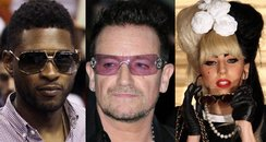 usher, bono and lady gaga