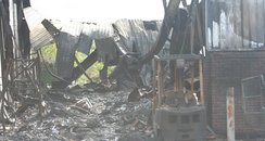 Damage from the Hobbs industrial Estate Fire