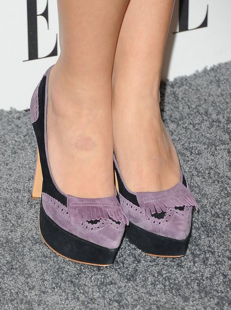black and purple court shoes