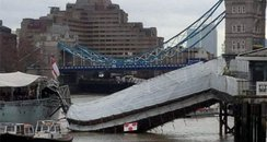 HMS Belfast walkway collapse