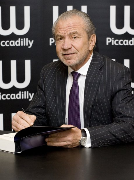 Alan Sugar attend his book signing