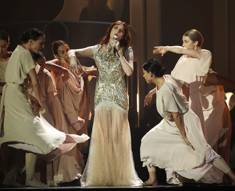 Florence Welch Performs at the BRIT Awards 2012