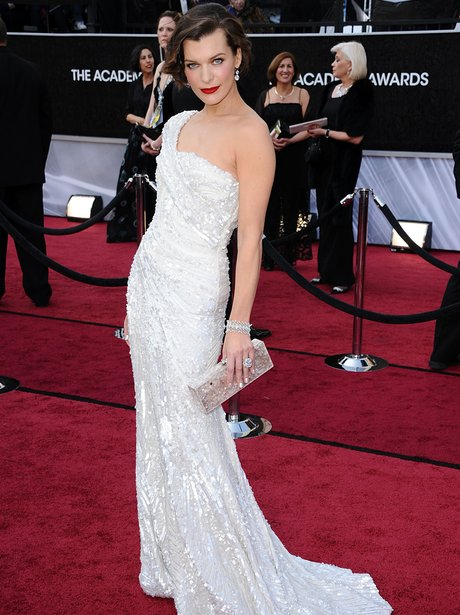 Milla Jovovich arrives for the Oscars Academy Awar