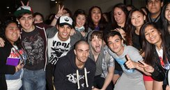 The Wanted wiht fans in LA