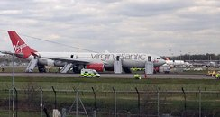 The Virgin Atlantic Plane after landing