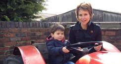 Harriet and Louis on a Tractor