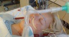 Kirstie Tancock in hospital