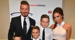 David and Victoria Beckham with Children