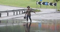 A33 flooded in Basingstoke