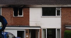 Fire crews said the family had a 'lucky escape'