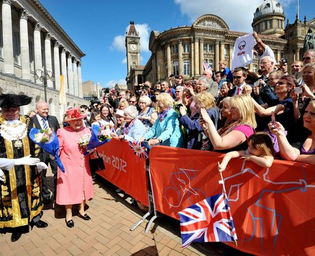 The Queen visit to Birmingham