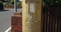 Jessica Jane's gold postbox