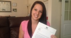 Hayley Syme With Her Letter From David Cameron