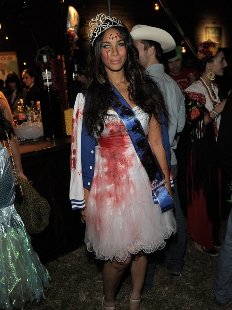 leona lewis dressed for halloween - Halloween Costume Celebrities