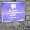 Sign outside St Albans Crown Court