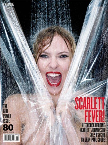 Scarlett Johansson as Janet Leigh in V Magazine