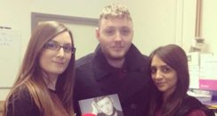 James Arthur with Amy Woodfield and Bela Shah