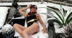 Tara Palmer-Tomkinson in the snow