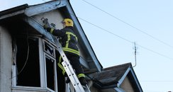 Firecrews rescue man from a fire in Southampton