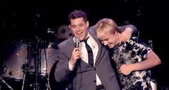 Michael Buble son Sam singing onstage