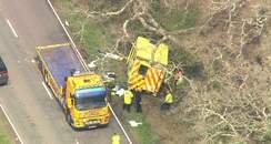 ambulance crash A337