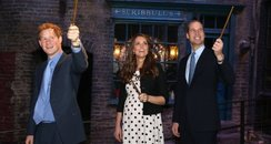 William, Kate and Harry in Diagon Alley
