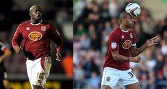 Adebayo Akinfenwa & Clarke Carlisle