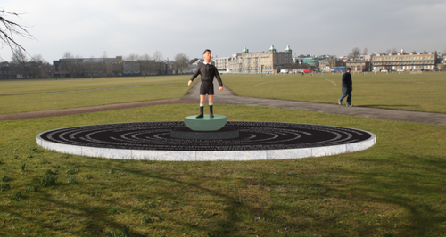 Cambridge Football Sculpture