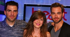 Lucy with Zachary Quinto & Chris Pine