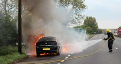 A14 Car Fire