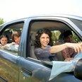 Family in car Woburn