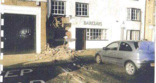 Ram Raid at Bank in Kimbolton